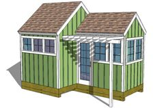 Farm Equipment Shed Plans Wood Shed Plans, Free Shed Plans, Shed Building Plans, Building Ideas, Garden Storage Shed, Storage Shed Plans, 8x8 Shed, Shed With Porch, Greenhouse Shed