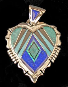 Native American Navajo Jewelry | Rick Tolino Native American jewelry heart pendant