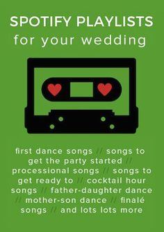 Choosing your wedding music? We can help! From processional songs to first dance songs, we share some of the best wedding songs and Spotify playlists.