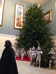 Who knew Darth Vader had any holiday cheer?!