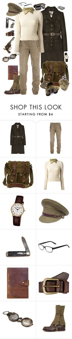 """""""WWII"""" by lunar-exorcism ❤ liked on Polyvore featuring Burberry, Belstaff, Chanel, Frédérique Constant, Rear View Prints, Liebeskind, Dot & Bo, 1940s and WWII"""