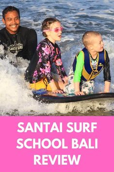 Our review of our kids surf lesson with Santai Surf School on Seminyak Beach in Bali. #bali #baliwithkids #seminyak #surfingbali #balifamilyholiday Bali With Kids, Travel With Kids, Family Travel, Learn To Surf, Bali Travel, Our Kids, Travel Inspiration, How To Plan, Learning