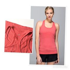 Lululemon 'Swiftly Tank' top Lululemon 'Swiftly' tank top. Size 8 (size tag removed). Heathered coral. Worn twice and in a good condition. lululemon athletica Tops Tank Tops