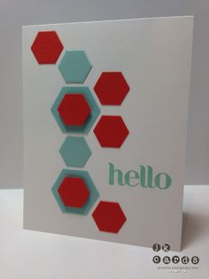 Stampin' Up!, Four You, Hexagon Hive Thinlit*, Hexagon Punch, *2014 Occasions Catalog (January 3, 2014)