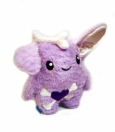 Kawaii Plush Emo Rabbit Kuschel Monster Hase Purple Unikat Handmade