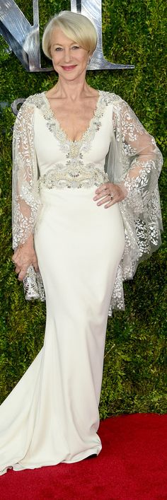 Helen Mirren in Badgley Mischka Gown
