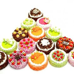 polymer clay | Miniature Polymer Clay Foods for Dollhouse and Jewelry 3.0 cm, 15 pcs ...