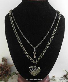 Key To My Heart Antique Bronze Necklace        by CedarCreekCanada, $19.95
