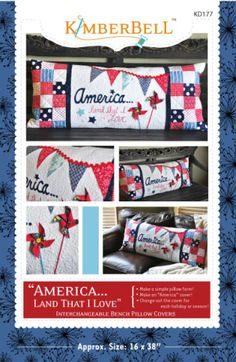 """""""America, Land That I Love"""" Bench Pillow 