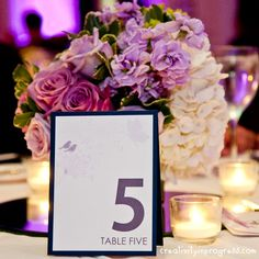 Wedding Table Number by sung1203 - Cards and Paper Crafts at Splitcoaststampers Craft Wedding, Cute Wedding Ideas, Wedding Cards, Diy Wedding, Wedding Decorations, Table Decorations, Wedding Things, Centerpieces, Coming Up Roses