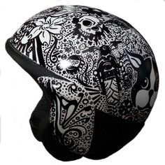 Custom Sharpie Art on BMW Motorcycle Helmet by HerrmannsHelmets, $295.00