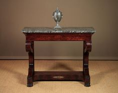 Furniture Tables Hard-Working Solid Mahogany French Versailles Style Gilt Marble Top Carved Console Hall Table