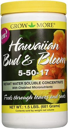 Amazon.com : Grow More 7505 Hawaiian Bud and Bloom 5-50-17 Fertilizer, 1.5-Pound : Garden & Outdoor Liquid Fertilizer, Organic Fertilizer, Plumeria Tree, Plumeria Flowers, Outdoor Flowers, Orchid Plants, Plant Growth, Gardening Supplies, Gardens