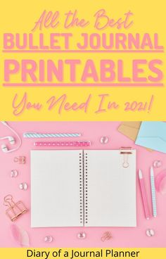 The best completely free bullet journal printables you need to stay organized in 2021! #bulletjournalprintables #freeprintables #bulletjournal2021 Bullet Journal Bookshelf, Bullet Journal Dot Grid, Bullet Journal Hacks, Bullet Journal Printables, Journal Template, Planner Supplies, Planner Ideas, Printable Planner, Planner Stickers