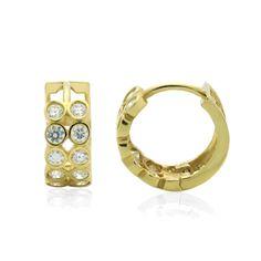 Fine Jewelry 14K White Gold 6mm Round Hoop Earrings PmbpkHD17n