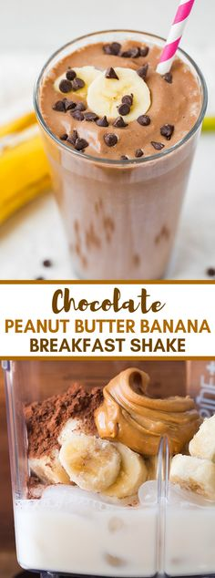 Chocolate Peanut Butter Banana Shake This is one velvety, protein rich smoothie you are going to adore! Chocolate Peanut Butter Banana Shake This is one velvety, protein rich smoothie you are going to adore! Chocolate Protein Shakes, Chocolate Peanut Butter Smoothie, Chocolate Shake, Healthy Chocolate, Banana Protein Shakes, Healthy Protein Shakes, Chocolate Desserts, Peanut Butter Shake, Healthy Peanut Butter