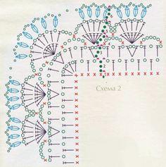 Gallery.ru / Photo # 21 - Krinos 3 - ergoxeiro Filet Crochet, Crochet Wool, Crochet Motifs, Crochet Quilt, Crochet Diagram, Crochet Chart, Crochet Doilies, Crochet Border Patterns, Crochet Boarders