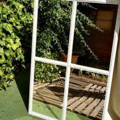 Espejo Ventana Francesa Ladder Decor, Outdoor Structures, Windows, Vintage, Home Decor, French Windows, Filing Cabinets, French Tips, Homemade Home Decor