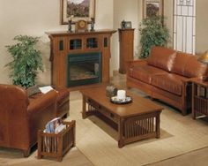 Craftsman Living Room And Family Room Design Ideas Mission Style
