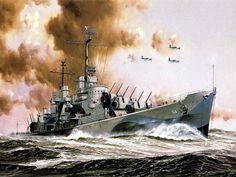 USS Oakland light-cruiser, 1942!