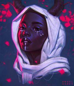 Ideas For Digital Art Girl Fantasy Character Inspiration Drawing Faces, Cute Drawings, Drawing Women, Character Inspiration, Character Art, Arte Alien, Fantasy Portraits, Black Artwork, Black Girl Art