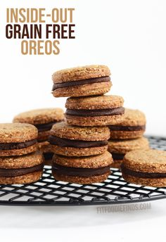 Inside-Out Grain Free Oreos- vegan, paleo, and gluten-free friendly! via FitFoodieFinds.com