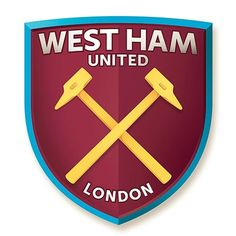 West Ham United, London - the new style badge which will come in to play when West ham move location to a new and improved stadium - Olympic Stadium  This crest was chosen by the fans of west ham as 4 different styles were presented in an online poll. The badge looks very much like a plain and simple crest which uses different aspects of crests from the past.