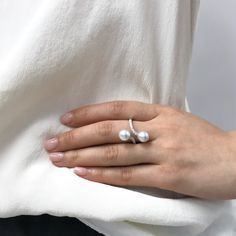 Love this South Sea pearl ring with diamond accents. Perfect gift idea, check out our Etsy page for more styles