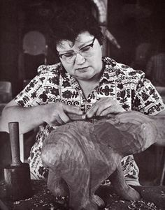 Amanda Crowe (1928-2004) Eastern Band Cherokee woodcarver and educator