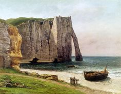 The Cliffs at Etretat 1869 by Gustave Courbet Art Print on Canvas Magnolia Box Size: Extra Large Framed Art Prints, Painting Prints, Canvas Prints, Wassily Kandinsky, Claude Monet, Adelia Prado, Etretat France, Gustave Courbet, Watercolor On Wood