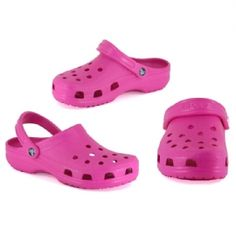 crocs, gosh i hate these things! there not cute, whats the point in wearing them?