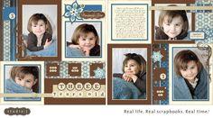 Karen Pedersen: Beautiful Studio J Digital Layouts Scrapbook Examples, Baby Scrapbook Pages, Birthday Scrapbook, Kids Scrapbook, Scrapbook Sketches, Scrapbook Page Layouts, Scrapbook Paper Crafts, Scrapbook Supplies, Scrapbook Cards