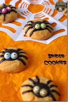 Goulucieusement: Spider Thumbprint Cookies – Cookies Araignée au Ch...