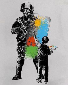 Shop our selection of Pop Art canvas prints. We use premium inks for brilliant color and hand-stretch each canvas print over museum-quality stretcher bars. Banksy Graffiti, Street Art Banksy, Arte Banksy, Bansky, Banksy Prints, Canvas Wall Art, Canvas Prints, Art Prints, Urbane Kunst