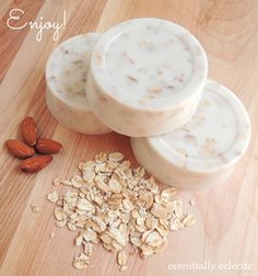 DIY: sweet almond honey oatmeal goat's milk soap