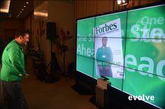 Interactive magazine cover for Garanti Bank using Kinect technology http://evolve-media.ro