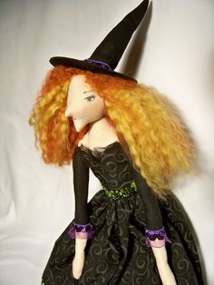 Witch+Doll+by+iloveholidays+on+Etsy,+$100.00