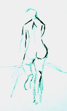 cyan ink and stick body