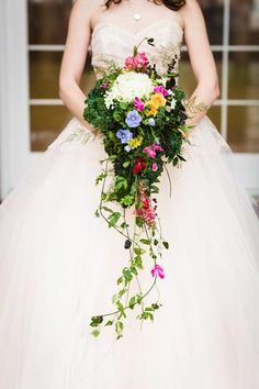 This whimsical bouquet looks like it was plucked from a fairy tale garden.
