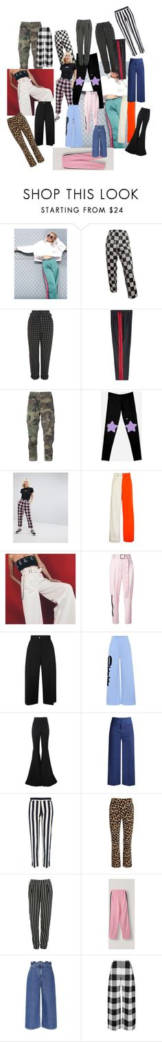 """""""Bottoms"""" by lucybethhill ❤ liked on Polyvore featuring Topshop, Maison Margiela, RE/DONE, Lazy Oaf, Alex Mullins, Proenza Schouler, Public School, Off-White, Alexis and Sea, New York"""