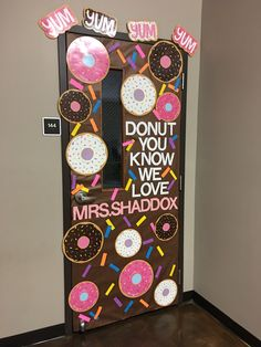 Teacher Appreciation Week Donut Door Decor. Teacher gift.