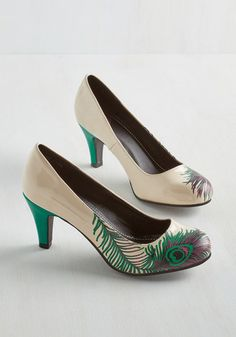 Proudly Posh Heel in Ivory $59.99 AT vintagedancer.com