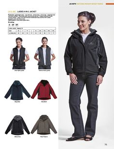 Ladies 4-in-1 Jacket | belleregaloshop 4 In 1, The 4, Lady, Movies, Movie Posters, Jackets, Down Jackets, Film Poster, Films
