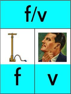 Verschil tussen /f/ en /v/ wordt vaak nog verkeerd aangeleerd. /f/ is het blaasgeluid zonder stemgeving. Bij de /v/ kan je de trilling voelen.