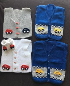 Car Motif Knit Baby Suit - Crochet Clothing and Accessories Knitting Terms, Intarsia Knitting, Knitting Blogs, Baby Boy Knitting, Knitting For Kids, Baby Knitting Patterns, Motif Bikini Crochet, Crochet Bikini Pattern, Knitted Baby Clothes