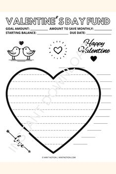 Valentine's Day savings tracker printable. date night savings tracker. Perfect for couples who want to enjoy a romantic time without worrying about overspending. Having a visual tracker is so helpful and it's a fun way to track your progress. Hang it up on your wall or fridge and watch your savings grow! Life On A Budget, Debt Free Living, Romantic Times, Paying Off Student Loans, Create A Budget, Frugal Living Tips, Love Your Life, Saving Money, Valentines Day