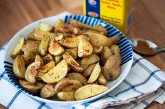 Crispy Oven Roasted Potatoes with Old Bay Seasoning #eatyourveggies #sidedishes #recipes