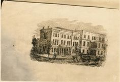 Tennessee State Library and Archives: Photograph and Image Search.Engraving of the St. Cloud Hotel on 5th Avenue just off Church St. ca 1860