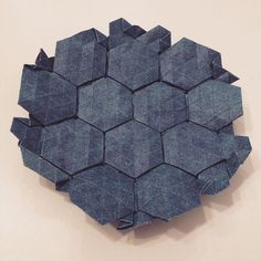Double Pleat Hexagonal Tessellation Model by Eric Gjerde B-side #origami #tessellation #hexagon #otherside by Luca De Giorgi