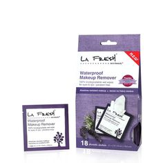 La Fresh Waterproof Makeup Remover-18 packets. I love these prepackaged makeup wipes! Great for traveling!!